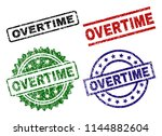 overtime seal stamps with... | Shutterstock .eps vector #1144882604