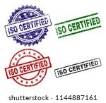 iso certified seal prints with... | Shutterstock .eps vector #1144887161