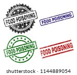 food poisoning seal prints with ... | Shutterstock .eps vector #1144889054