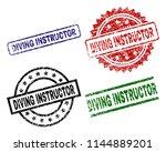 diving instructor seal prints... | Shutterstock .eps vector #1144889201