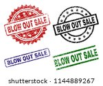 blow out sale seal prints with... | Shutterstock .eps vector #1144889267