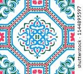 talavera pattern.  azulejos... | Shutterstock .eps vector #1144895597