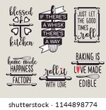 fun cute baking quote printable ... | Shutterstock .eps vector #1144898774
