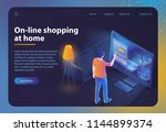 online shopping at home.... | Shutterstock .eps vector #1144899374