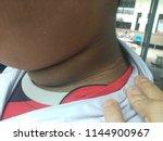 black neck of the fat boy ... | Shutterstock . vector #1144900967