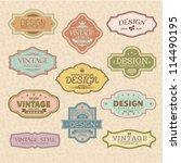 set of vintage styled frames | Shutterstock .eps vector #114490195