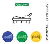 cat litter line icon logo... | Shutterstock . vector #1144902197