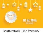 eid al adha mubarak celebration ... | Shutterstock .eps vector #1144904327