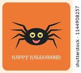 happy halloween greeting card... | Shutterstock .eps vector #1144908257
