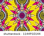 textile fashion african print... | Shutterstock .eps vector #1144910144