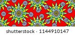 textile fashion african print... | Shutterstock .eps vector #1144910147