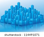 illustration of business office ... | Shutterstock .eps vector #114491071
