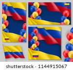 colombian patriotic festive... | Shutterstock .eps vector #1144915067