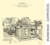 seoul  south korea  asia.... | Shutterstock .eps vector #1144915151