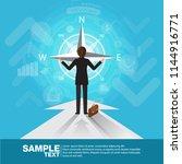 future business leader concept... | Shutterstock .eps vector #1144916771