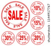 "red inscription ""sale"" in the... 