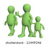 family on walk   mum   daddy... | Shutterstock . vector #11449246