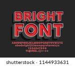 vector bright font. retro... | Shutterstock .eps vector #1144933631