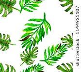 tropical green seamless... | Shutterstock . vector #1144935107