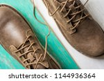 close up vintage leather shoes... | Shutterstock . vector #1144936364