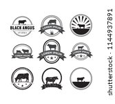 set of cow logo design template ... | Shutterstock .eps vector #1144937891