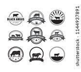 set of cow logo design template ... | Shutterstock .eps vector #1144937891