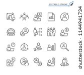 business management line icons. ... | Shutterstock .eps vector #1144941734