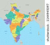 map of india | Shutterstock .eps vector #1144945097