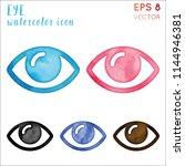 eye watercolor icon set.... | Shutterstock .eps vector #1144946381