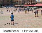 siena  italy   august 1  2016   ...   Shutterstock . vector #1144951001