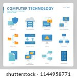 computer network icon set | Shutterstock .eps vector #1144958771