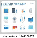 computer network icon set | Shutterstock .eps vector #1144958777