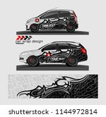 car wrap design vector.... | Shutterstock .eps vector #1144972814