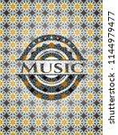 music arabesque style emblem.... | Shutterstock .eps vector #1144979477