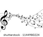 abstract music notes on line... | Shutterstock .eps vector #1144980224