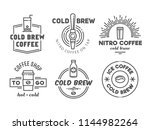 cold brew coffee and nitro... | Shutterstock .eps vector #1144982264
