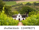 vineyard with dutch colonial... | Shutterstock . vector #114498271
