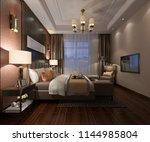 3d rendering beautiful luxury... | Shutterstock . vector #1144985804