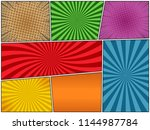 comic book page bright template ... | Shutterstock .eps vector #1144987784