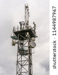 telecommunication tower with... | Shutterstock . vector #1144987967