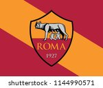 flag ofroma color background... | Shutterstock .eps vector #1144990571