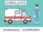 vector illustration ambulance...   Shutterstock .eps vector #1144993394
