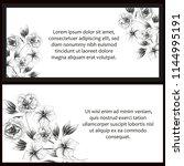 romantic wedding invitation...   Shutterstock .eps vector #1144995191