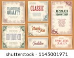 vector set for creating... | Shutterstock .eps vector #1145001971
