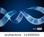 background with waving film... | Shutterstock .eps vector #114500341