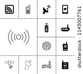 wireless icon. collection of 13 ...   Shutterstock .eps vector #1145007761
