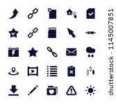 interface icon. collection of...   Shutterstock .eps vector #1145007851