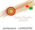 rakhi sale poster banner... | Shutterstock .eps vector #1145010704