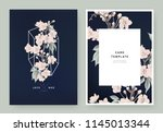 floral wedding invitation card... | Shutterstock .eps vector #1145013344