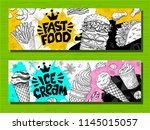 fast food colorful modern... | Shutterstock .eps vector #1145015057